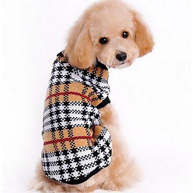 Câine Pulovere Îmbrăcăminte Câini Desene Animate Cafea Material de Mătase / Bumbac Costume Pentru animale de companie Bărbați / Pentru