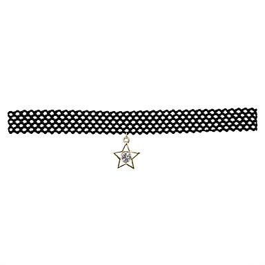 Pentru femei Altele Personalizat De Bază Modă Adorabil stil minimalist Coliere Choker Bijuterii Dantelă Aliaj Coliere Choker . Cadouri de