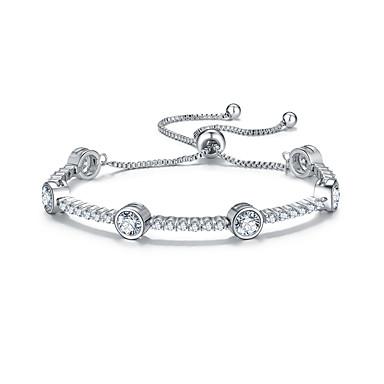 للمرأة أساور السلسلة والوصلة الصداقة موضة زركون Round Shape مجوهرات إلى هدايا عيد الميلاد 1PC