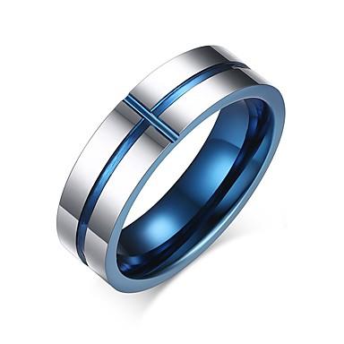 للرجال خاتم مخصص أساسي موضة euramerican في أسلوب بسيط معدن التنغستن دائري Circle Shape Geometric Shape مجوهرات حزب الذكرى السنوية عيد