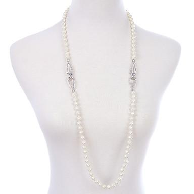 Γυναικεία Σκέλη Κολιέ Κρυστάλλινο Μοντέρνα Εξατομικευόμενο Euramerican μινιμαλιστικό στυλ Λευκό Κοσμήματα Για Γάμου Πάρτι 1pc