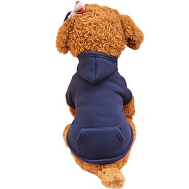Hond Hoodies Hondenkleding Modieus Effen Fuchsia Koffie Rood Groen Roze Kostuum Voor huisdieren