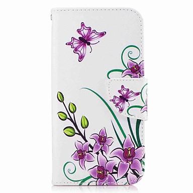 Maska Pentru Samsung Galaxy A5(2017) A3(2017) Portofel Titluar Card Cu Stand Întoarce Model Corp Plin Fluture Greu PU Piele pentru A3