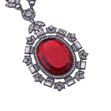 Kadın's Uçlu Kolyeler Dairesel Tasarım Moda Kişiselleştirilmiş Euramerican Mücevher Için Düğün Parti 1pc