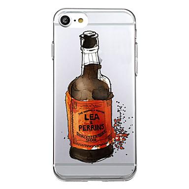 Varten Ultraohut Kuvio Etui Takakuori Etui Sana / lause Pehmeä TPU varten AppleiPhone 7 Plus iPhone 7 iPhone 6s Plus iPhone 6 Plus iPhone
