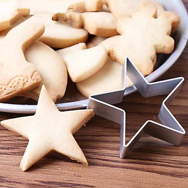 paistopinnan Tähti for Cake Suklaa for Cookie Ruostumaton teräs Tee se itse