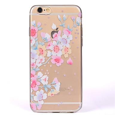 Maska Pentru Apple iPhone 7 Plus iPhone 7 IMD Transparent Capac Spate Floare Moale TPU pentru iPhone 7 Plus iPhone 7 iPhone 6s Plus