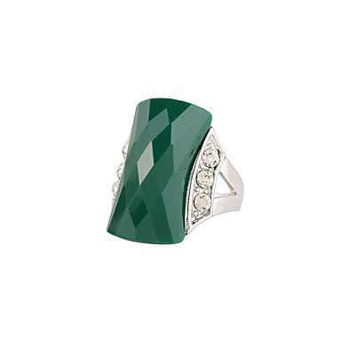للمرأة خاتم موضة euramerican في تقليد الماس سبيكة بجعة مستطيل مجوهرات زفاف عيد ميلاد هدية فضفاض