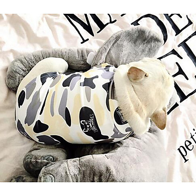 Câine Tricou Îmbrăcăminte Câini Draguț Casul/Zilnic Geometic Culoare Camuflaj Costume Pentru animale de companie