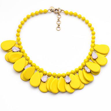 Damskie Pasemka Naszyjniki Kropla Unikalny White Yellow Czerwony Biżuteria Na Codzienny 1szt