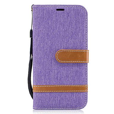 hoesje Voor Samsung Galaxy A5(2017) A3(2017) Kaarthouder Portemonnee met standaard Flip Volledig hoesje Lijnen / golven Hard tekstiili