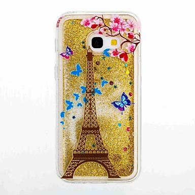 Etui Käyttötarkoitus Samsung Galaxy A5(2017) A3(2017) Virtaava neste Kuvio Takakuori Eiffel-torni Pehmeä TPU varten A3 (2017) A5 (2017)
