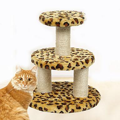 Pisici Jucărie Pisică Jucării Animale Interactiv Scratch Pad Durabil Lemn Pluș Pentru animale de companie