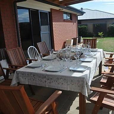 Dreptunghiular Brodat Fețe de masă , In MaterialHotelul masă Nunta decorare Party Cina conferință de nunta Crăciun Decor Favor Tabelul