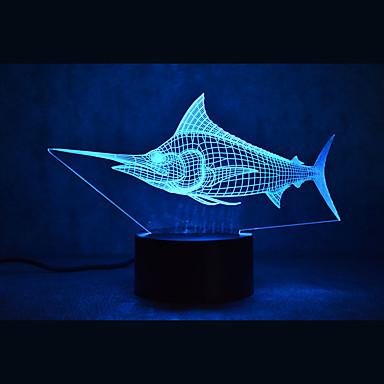 marlin kaplumbağaları dokunmatik karartma 3d led gece ışık 7colorful dekorasyon atmosfer lamba yenilik aydınlatma ışık