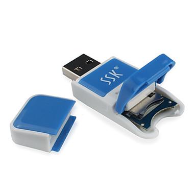 SSK MicroSD/MicroSDHC/MicroSDXC/TF Memory Stick PRO Duo USB 2.0 Kortinlukija