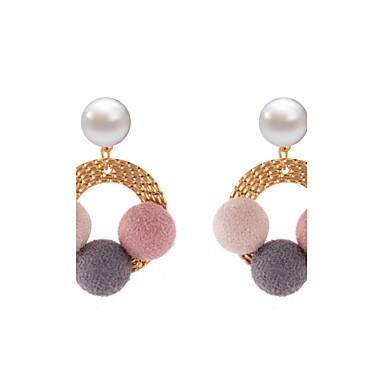 Damen Tropfen-Ohrringe Schmuck Luxus Einzigartiges Design Sexy Natur Freundschaft Dehnbar Baumwollflanell Aleación Kreisform Schmuck