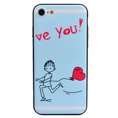 Na Etui Pokrowce Wytłaczany wzór Wzór Etui na tył Kılıf Kreskówka Napis Serce Twarde Akrylowy na AppleiPhone 7 Plus iPhone 7 iPhone 6s