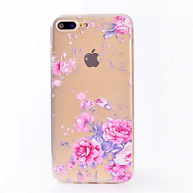 Για IMD Διαφανής tok Πίσω Κάλυμμα tok Λουλούδι Μαλακή TPU για AppleiPhone 7 Plus iPhone 7 iPhone 6s Plus iPhone 6 Plus iPhone 6s iPhone 6