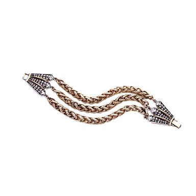Kadın's Zincir & Halka Bileklikler Arkadaşlık Moda alaşım Geometric Shape Mücevher Için 1pc