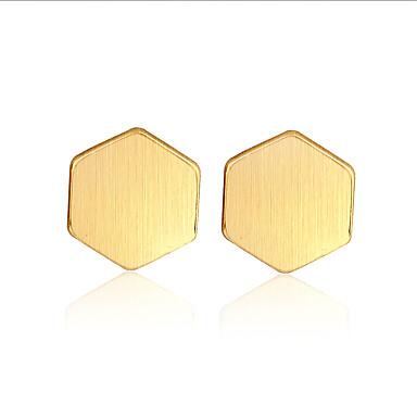 أقراط الزر مجوهرات موضة شخصية euramerican في ذهبي فضي أحمر مجوهرات إلى زفاف حزب عيد ميلاد 1 زوج