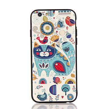 Varten Koristeltu Kuvio Etui Takakuori Etui Kissa Kova PC varten AppleiPhone 7 Plus iPhone 7 iPhone 6s Plus iPhone 6 Plus iPhone 6s