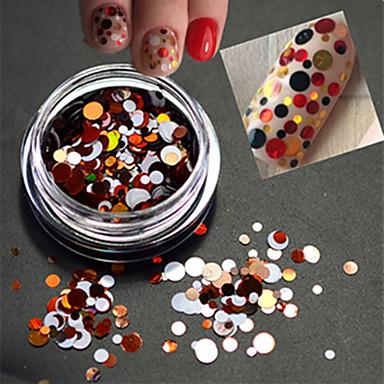 1bottle makea väri muoti kynsikoristeet Erikokoise värikäs laser pyöreä viipale glitter paillette viipale koristeluun p13