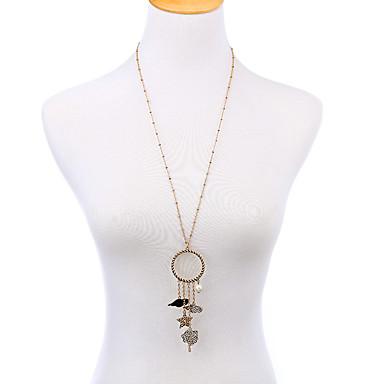 Kadın's Uçlu Kolyeler Geometric Shape Arkadaşlık Kişiselleştirilmiş Altın/Gümüş Mücevher Için Parti 1pc