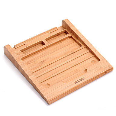 Τριπόδι περίπτερο δισκίο ξύλινος Καουτσούκ Καινοτόμα εργαλεία κουζίνας κάτοχος tablet