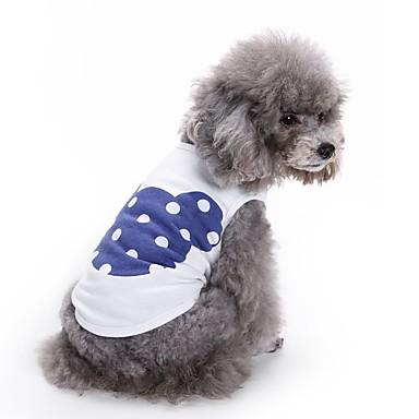 Kat Hond T-shirt Gilet Hondenkleding Cartoon Oranje Blauw Roze Katoen Kostuum Voor huisdieren Heren Dames Schattig Casual/Dagelijks
