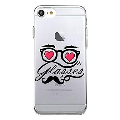 tok Για Apple Εξαιρετικά λεπτή Με σχέδια Πίσω Κάλυμμα Λέξη / Φράση Μαλακή TPU για iPhone 7 Plus iPhone 7 iPhone 6s Plus iPhone 6 Plus