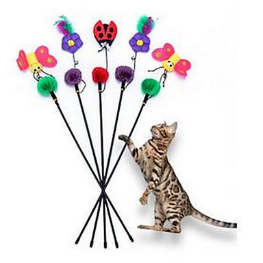 Zabawka dla kota Zabawki dla zwierząt Interaktywne Wędki dla Kota Trwały Materiał Plastikowy Dla zwierząt domowych