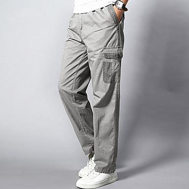 d62a0c0b7372 billige Bukser i plusstørrelse til herrer-Herre Aktiv Plusstørrelser Bomuld  Løstsiddende Ret   Joggingbukser