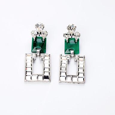 Kolczyki koła Modny Osobiste Square Shape Light Green Biżuteria Na Ślub Impreza Urodziny 1 para