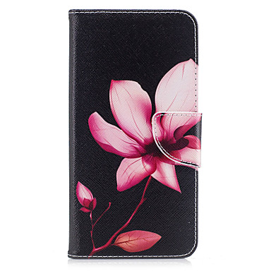 voordelige iPhone 5 hoesjes-hoesje Voor iPhone 7 / iPhone 7 Plus / iPhone 6s Plus Portemonnee / Kaarthouder / met standaard Volledig hoesje Bloem Hard PU-nahka voor iPhone SE / 5s