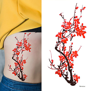 Tattoo Aufkleber Blumen Serie Non Toxic Waterproof Damen Herren Teen Flash-Tattoo Temporary Tattoos
