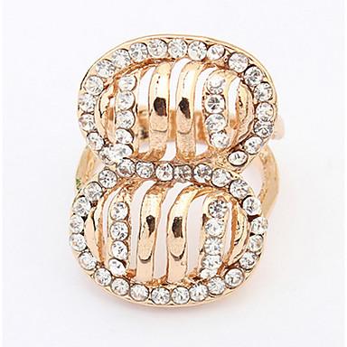 Heren Dames Ring Bergkristal Gepersonaliseerde Luxe Uniek ontwerp Logostijl Klassiek Vintage Bohémien Standaard Bergkristallen leuke