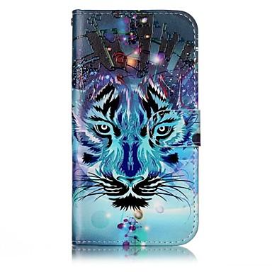 voordelige Galaxy A-serie hoesjes / covers-hoesje Voor Samsung Galaxy A3 (2017) / A5 (2017) Portemonnee / Kaarthouder / met standaard Volledig hoesje dier Hard PU-nahka