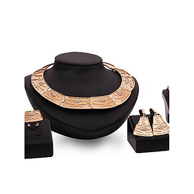 Dames Sieraden Set Bergkristal Modieus Vintage PERSGepersonaliseerd Euramerican Opvallende sieraden Strass Legering Sieraden VoorBruiloft