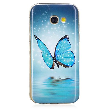 voordelige Galaxy A-serie hoesjes / covers-hoesje Voor Samsung Galaxy A3 (2017) / A5 (2017) / A5(2016) Glow in the dark / Patroon Achterkant Vlinder Zacht TPU