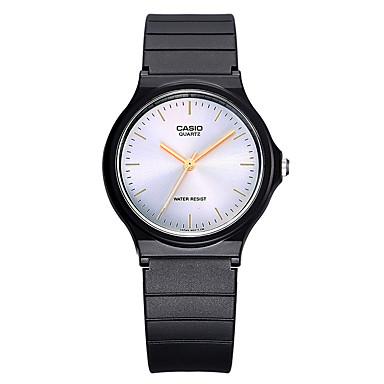 Casio للرجال الزوجين ساعة رياضية ساعات فاشن ياباني كوارتز مقاوم للماء مطاط فرقة كوول عادية أسود