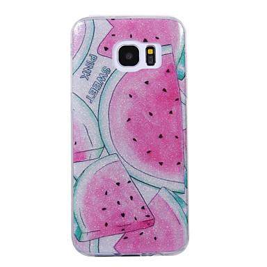 غطاء من أجل Samsung Galaxy S8 Plus S8 IMD نموذج غطاء خلفي بريق لماع فاكهة ناعم TPU إلى S8 S8 Plus S7 edge S7 S6 edge S6