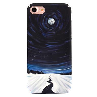 Pentru Apple iPhone 7 7 plus 6s 6 plus caz acoperă stele lună lună model decal îngrijire a pielii touch PC material caz telefon