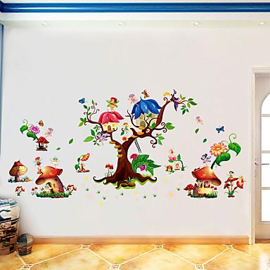 Dieren Vrije tijd Feest Muurstickers Vliegtuig Muurstickers Decoratieve Muurstickers 3D, Papier Huisdecoratie Muursticker Wand Raam