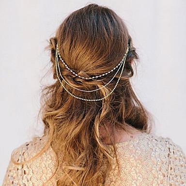 Bruiloft/Feest/Dagelijks/Causaal - Haarbanden (Legering/Imitatieparel/Strass , Gouden)