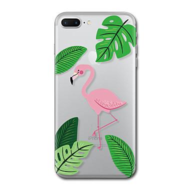 Maska Pentru Apple Transparent Model Carcasă Spate Flamingo Copac Moale TPU pentru iPhone 7 Plus iPhone 7 iPhone 6s Plus iPhone 6 Plus