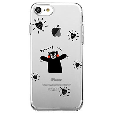 غطاء من أجل Apple iPhone 7 Plus iPhone 7 شفاف نموذج غطاء خلفي جملة / كلمة قلب كارتون ناعم TPU إلى iPhone 7 Plus iPhone 7 iPhone 6s Plus
