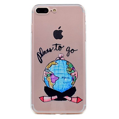 Voor iPhone X iPhone 8 Hoesje cover Transparant Patroon Achterkantje hoesje Sexy dame Zacht TPU voor Apple iPhone X iPhone 7s Plus iPhone