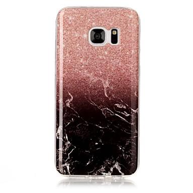 Недорогие Чехлы и кейсы для Galaxy S3-Кейс для Назначение SSamsung Galaxy S8 Plus / S8 / S7 edge IMD / С узором Кейс на заднюю панель Мрамор Мягкий ТПУ