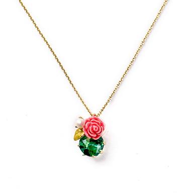Pentru femei Coliere cu Pandativ Verde Smarald Bijuterii Smarald Aliaj La modă Euramerican stil minimalist Bijuterii PentruNuntă